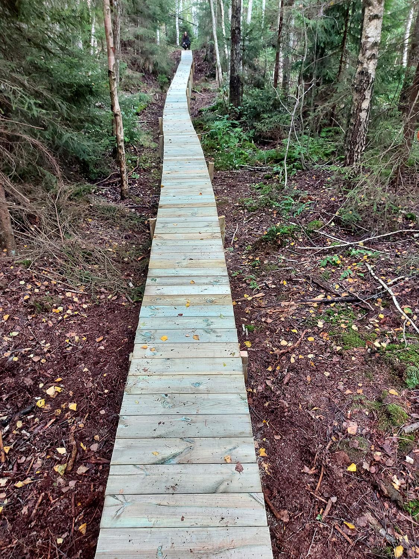 Två broar uppfördes med en totallängd på ca 80 meter.
